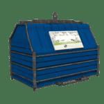 Conteneur déchets industriels bleu