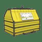 Conteneur déchets industriels jaune