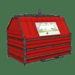 Conteneur déchets industriels rouge